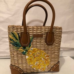 017111eb06b4 MICHAEL Michael Kors Bags - New Michael Kors Malibu Straw Tote Pineapple Bag